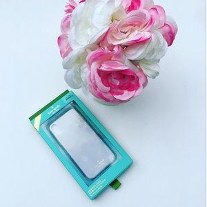 New Kate Spade Clear Glitter IPhone X Case